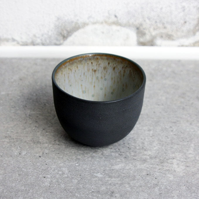 Espresso Cup, black w/ crystal glaze (75 ml)