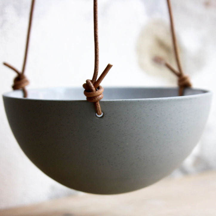 Hanging Bowl, Stone Blue (medium)
