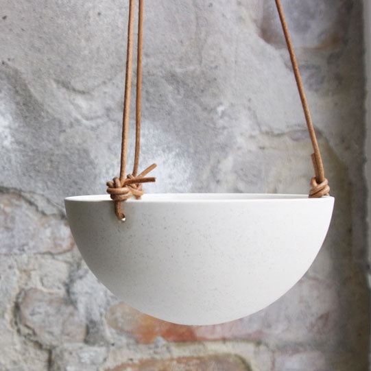 Hanging Bowl, Light Stone Grey (medium)