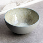 Half Sphere Bowl, Stone Blue w/ crystal glaze (medium)