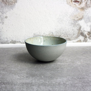 Half Sphere Bowl, Stone Blue w/ crystal glaze (mini)