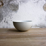Half Sphere Bowl, Light Stone Grey w/ glazed stripes (mini)