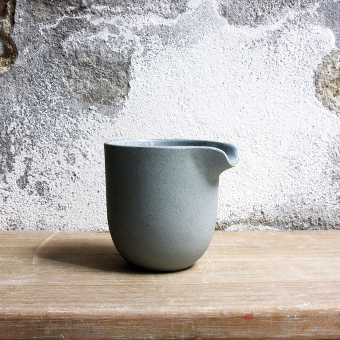 Jug, Stone Blue w/ white glaze (small)