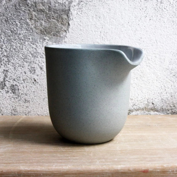 Jug, Stone Blue w/ white glaze (medium)