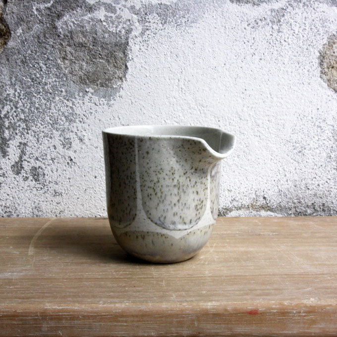 Jug, Light Stone Grey w/ brush strokes (small)