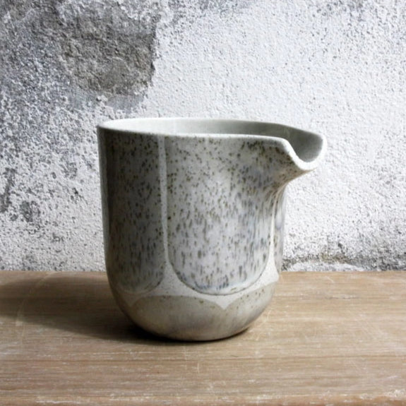 Jug, Light Stone Grey w/ brush strokes (medium)