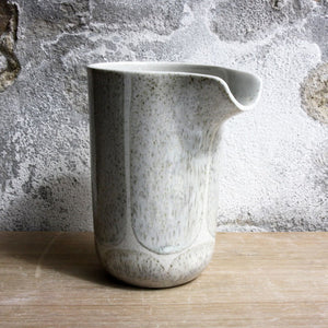 Jug, Light Stone Grey w/ brush strokes (large)