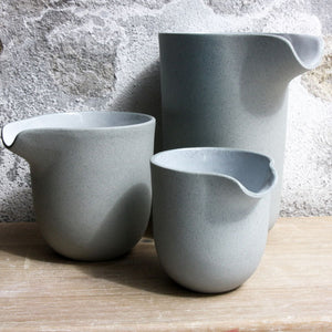 Jug, Stone Blue w/ white glaze (large)