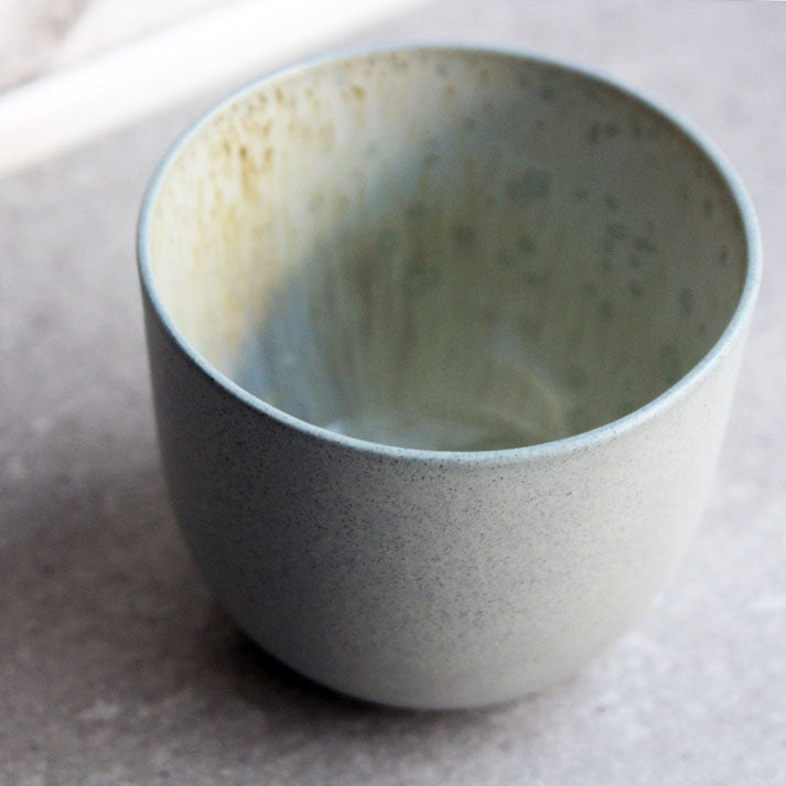 Coffee Cup, Stone Blue w/ crystal glaze (250 ml)