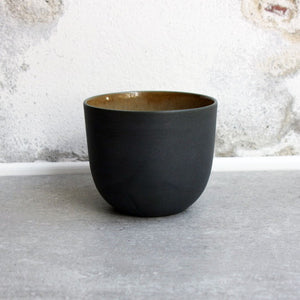 Coffee Cup, Black w/ crystal glaze (250 ml)