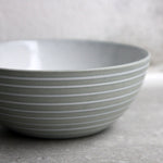 Bowl, Stone Blue w/ glazed stripes (small)