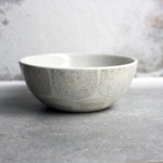 Bowl, Light Stone Grey w/ brush strokes (small)