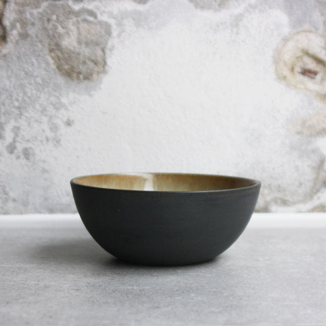 Bowl, Black w/ Crystal Glaze (small)