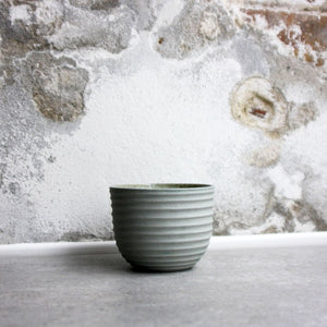 Textured Cup, Stone Blue w/ crystal glaze (200 ml)