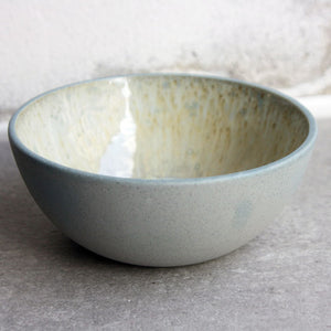 Bowl, Stone Blue w/ Crystal Glaze (small)