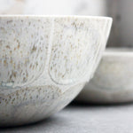 Bowl, Light Stone Grey w/ brush strokes (Large)