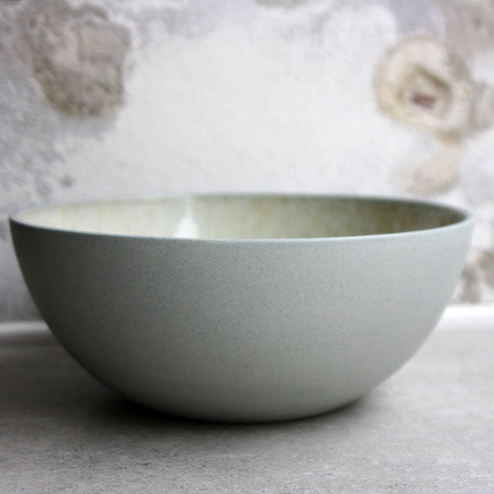 Bowl, Stone Blue w/ Crystal Glaze (Large)