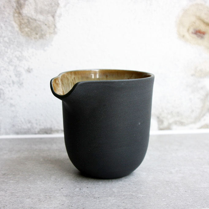 Jug, Black w/ crystal glaze (small)