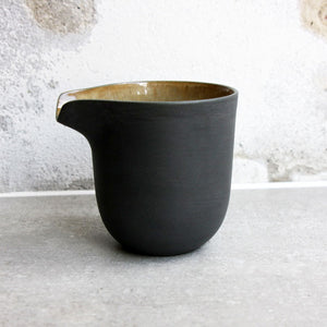 Jug, Black w/ crystal glaze (medium)