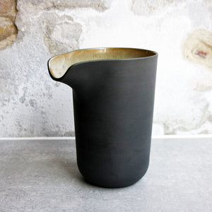 Jug, Black w/ crystal glaze (large)