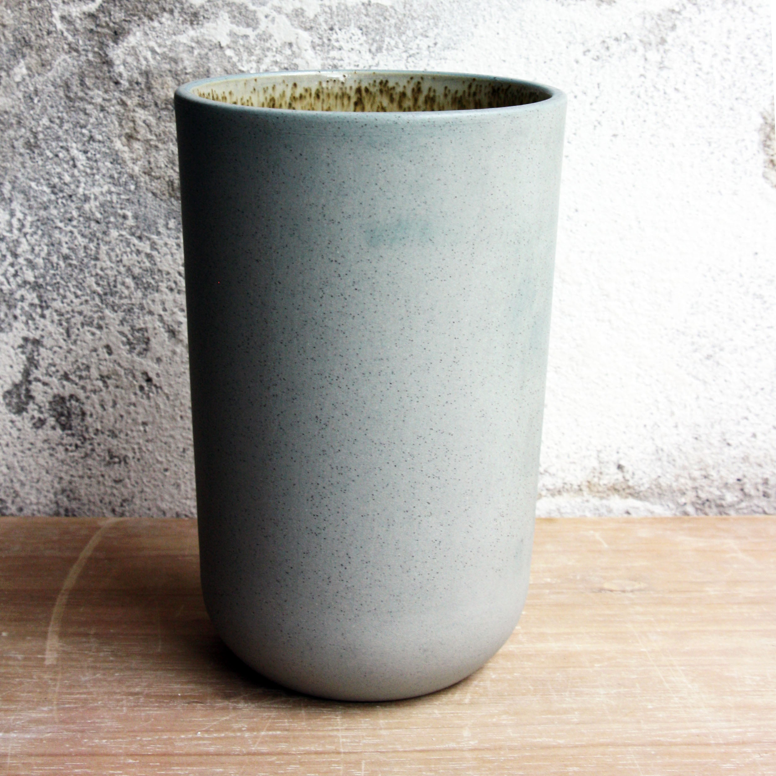 Vase, Stone Blue w/ crystal glaze (medium)