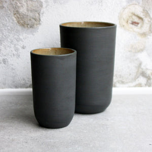 Vase, Stone Black w/ crystal glaze (medium)
