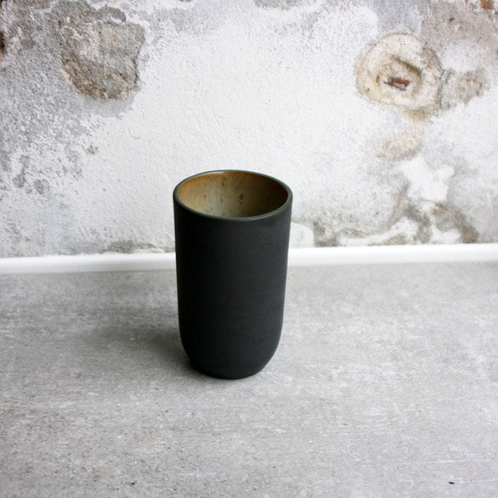 Vase, Black w/ crystal glaze (small)