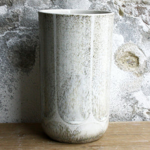 Vase, Light Stone Grey w/ brush strokes (large)