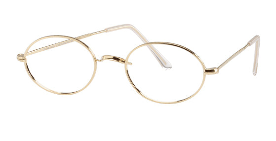 British Oval 18K Rolled Gold Eyeglasses (Final sale no refunds) (No longer carry at this time)