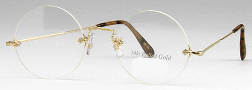 Round or Panto Rimless 18K Gold Eyeglasses Filled (No longer carry at this time)