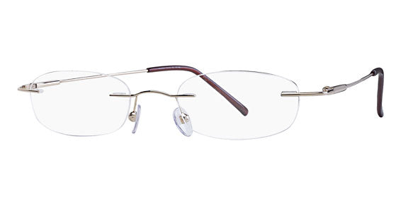 Mount Eyewear Stainless Steel Rimless Drill Mount Collection A w Sun clip