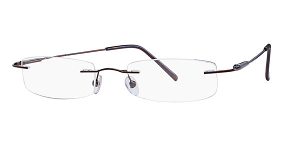 Mount Eyewear Stainless Steel Rimless Drill Mount Collection B with Sun Clip