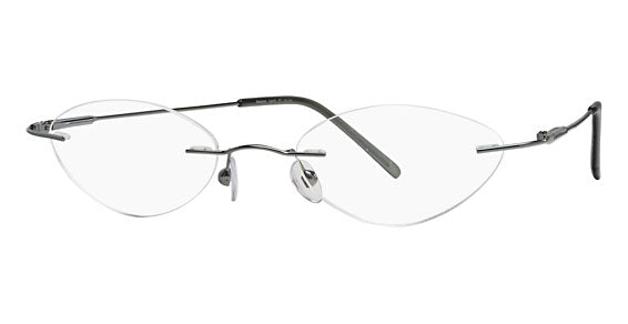 Mount Eyewear Stainless Steel Rimless Drill Mount Collection G with Sun Clip