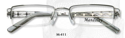 M411 Half Rimless Eyeglasses Last One in Stock