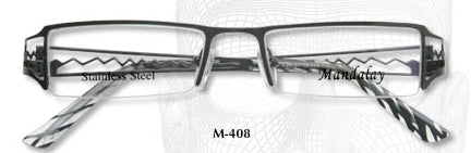 Mandalay M408 Half Rimless Eyeglasses- LAST ONE