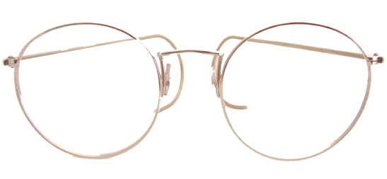 Panto 18kt Rolled Gold Eyeglasses  (No longer carry at this time)