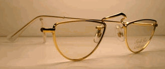 Perfect Half Eye in 14k Rolled Gold Eyeglasses (Sold Out in 14K)