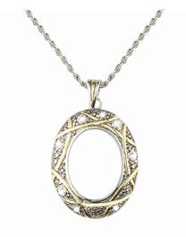 Silver and Gold Magnifier Necklace 3X