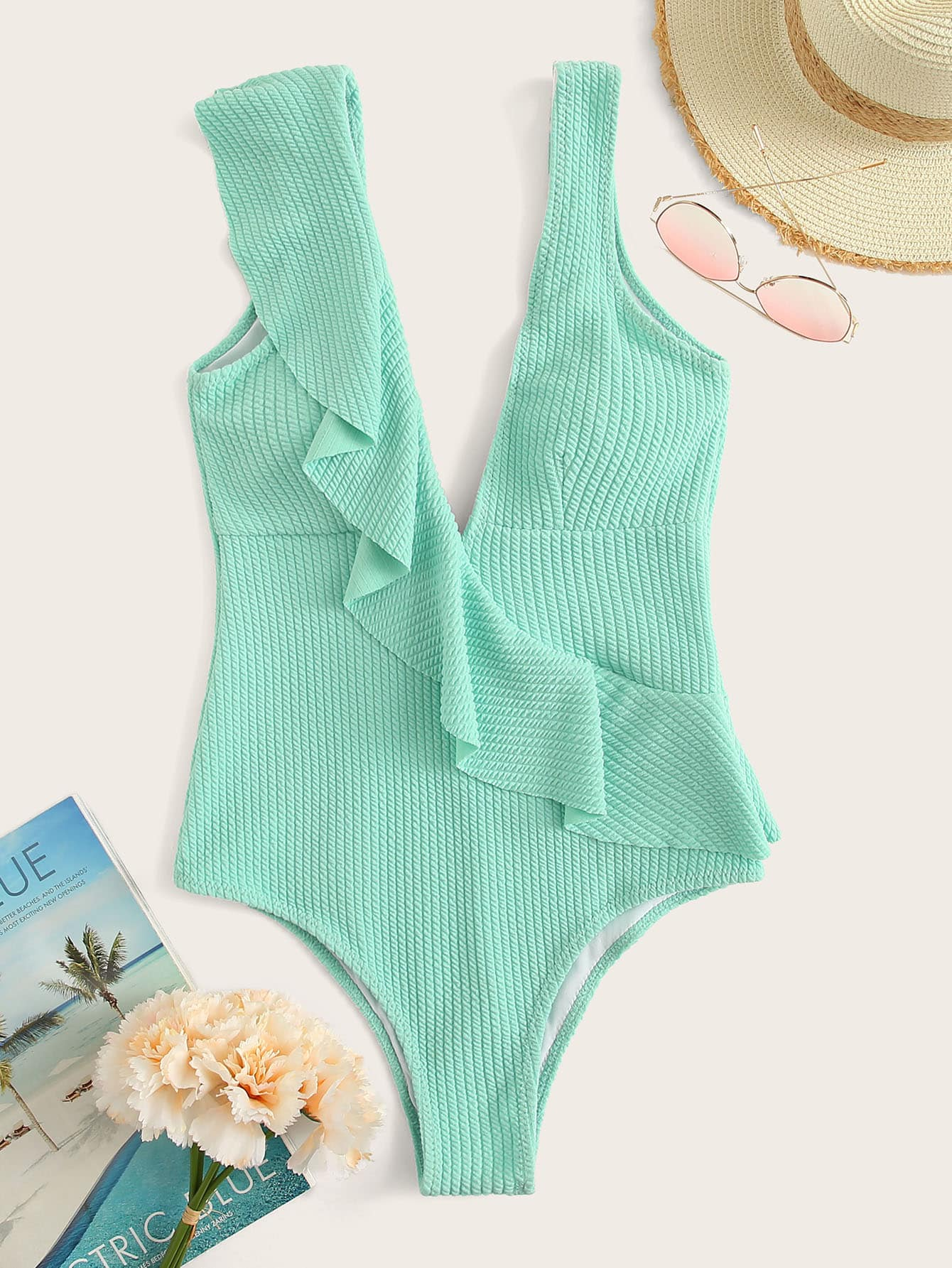 Ruffle Me Baby One Piece Swim