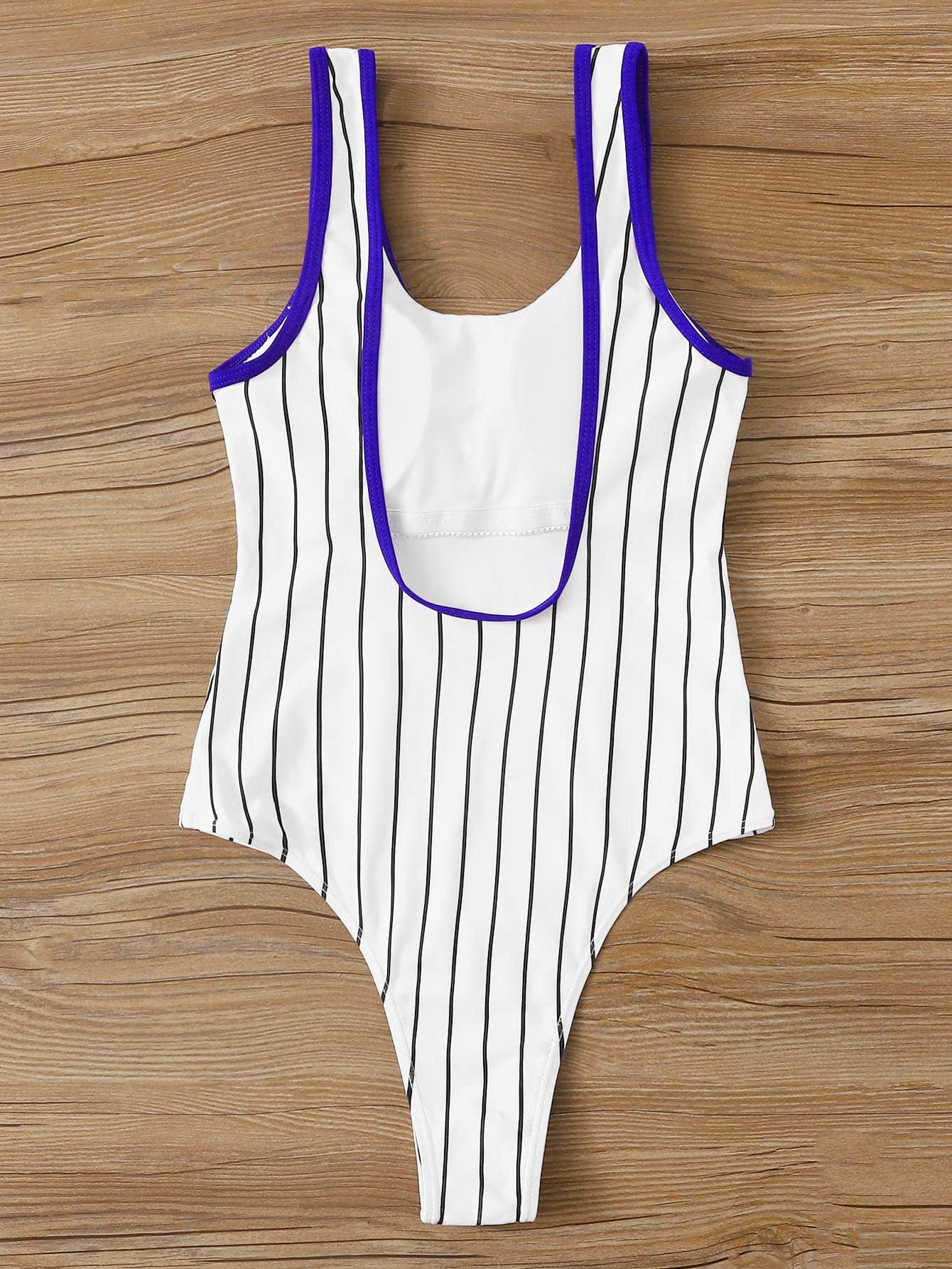 Letter & Striped One Piece Swim