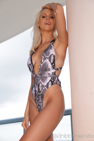 Sassy in Snake One Piece Swimsuit