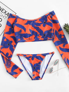Tropical Two Piece Swimwear