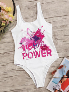 Flamingo Power One Piece Swimsuit