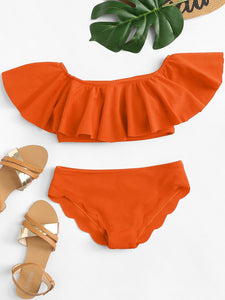 Orange You Glad You Meet Me Bikini Set