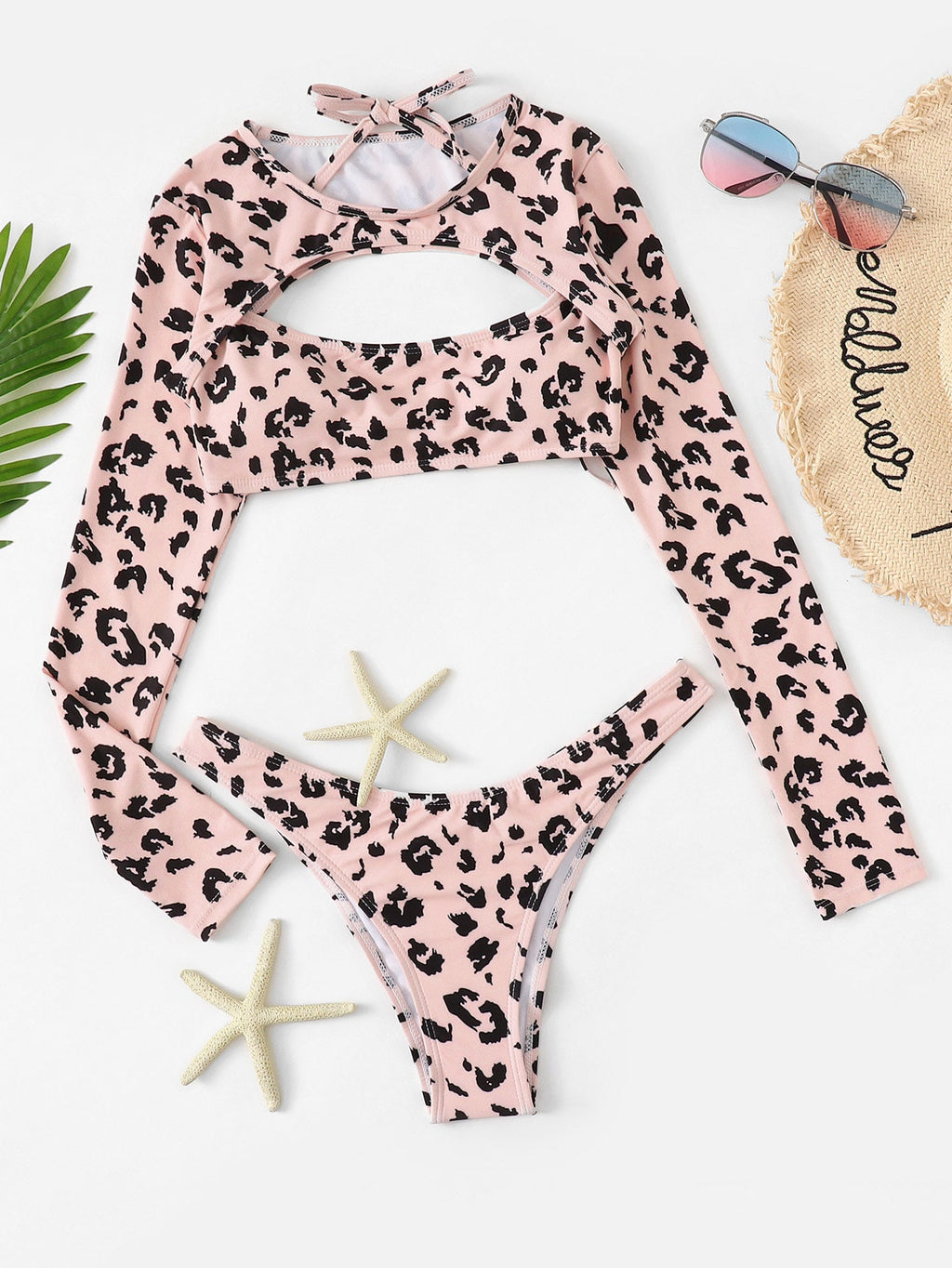 Pink Leopard Three Piece Set