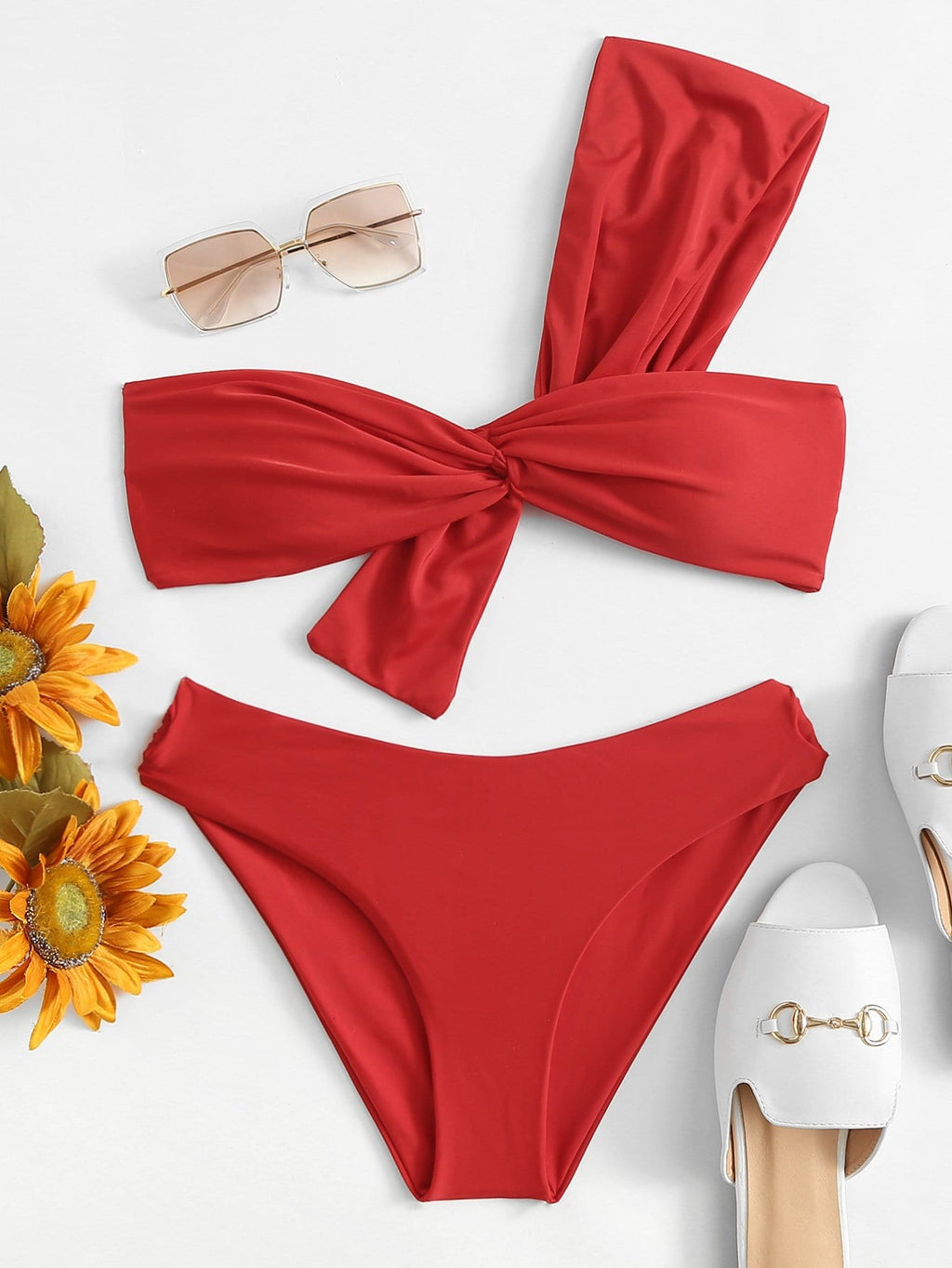 The Twist Bandeau Bikini Set