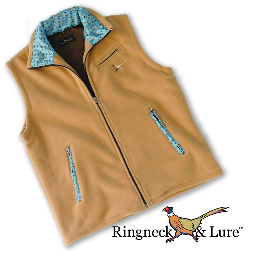 Fly Lures Cerulean Camel Fleece Vest