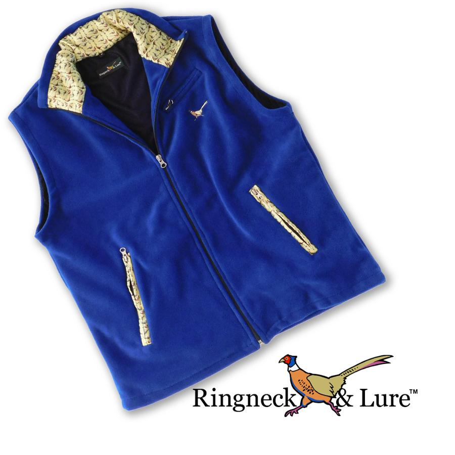 Gamebirds Olive Royal Blue Fleece Vest
