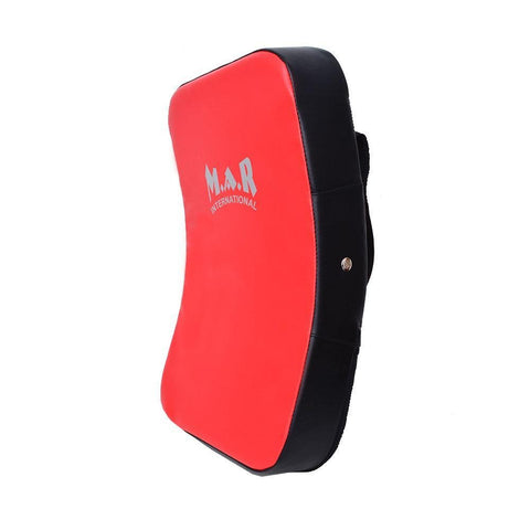 MAR-208E | Red+Black Heavy Duty Curved Large Striking Shield - quality-martial-arts