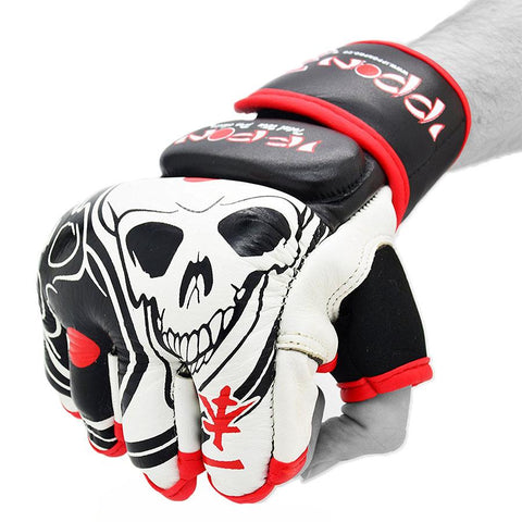 "MAR-417 IPPON Striking Gloves ""Skull"" Design - quality-martial-arts"